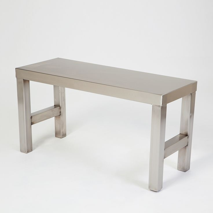 Stainless Steel Bench Item #19104; Easy to clean stainless steel bench provides hospital grade seating solution in cleanroom gowning rooms. Sturdy construction!