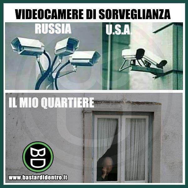 #videocamera di sicurezza efficiente! Tagga i tuoi amici e #condividi #bastardidentro #perfettamentebastardidentro www.bastardidentro.it