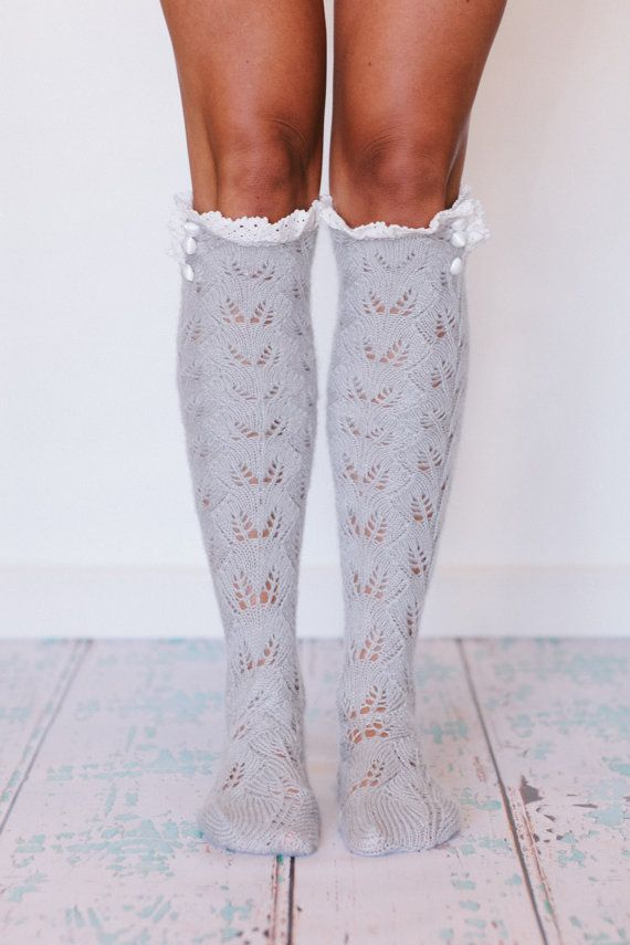 Lace Boot Socks, Socks for Boots, Girls, Tall Socks with Lace, Girl's Socks, Fashion Socks for Women (BS-76) , $38.00