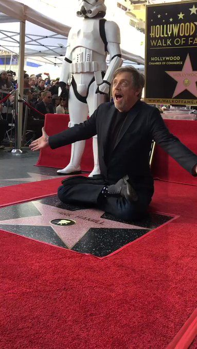 Love u Mark. U totally deserve it for the way you put so much love into Luke the Jedi we know and will always love ❤️❤️❤️❤️❤️