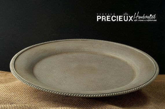 Upcycled Shabby SIlver Plated Tray by vintagePRECIEUX on Etsy
