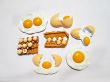 satış yeni gelenler yaratıcı gıda şeklinde buzdolabı mıknatısları sevimli yumurta tarzı dekoratif buzdolabı hediyelik eşya sticker ev dekor TZ50(China (Mainland))
