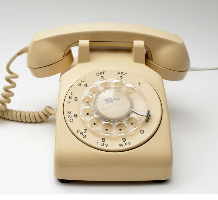 Vintage Cream Rotary Telephone with Volume Adjustment Northern Electric 1960s by vtgwoo on Etsy