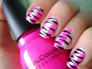 Best 25 zebra nail designs ideas on pinterest zebra nail art cute pink and white zebra nail designs prinsesfo Image collections