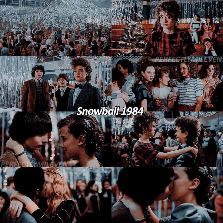 """1,005 Likes, 23 Comments - stranger things ♡ (@perfectlymileven) on Instagram: """"snowball 1984 ♡ — 33 years ago today, the snowball was held. some of our favorite moments occurred…"""""""
