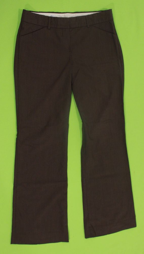Theory Pants Wool Sz 4 Brown Trousers Women Stretch Dress Casual Made in USA #Theory #Pants
