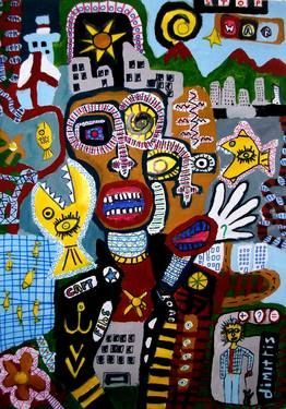 "Saatchi Art Artist dimitris p; Painting, ""Street Art -seaman"" #art"