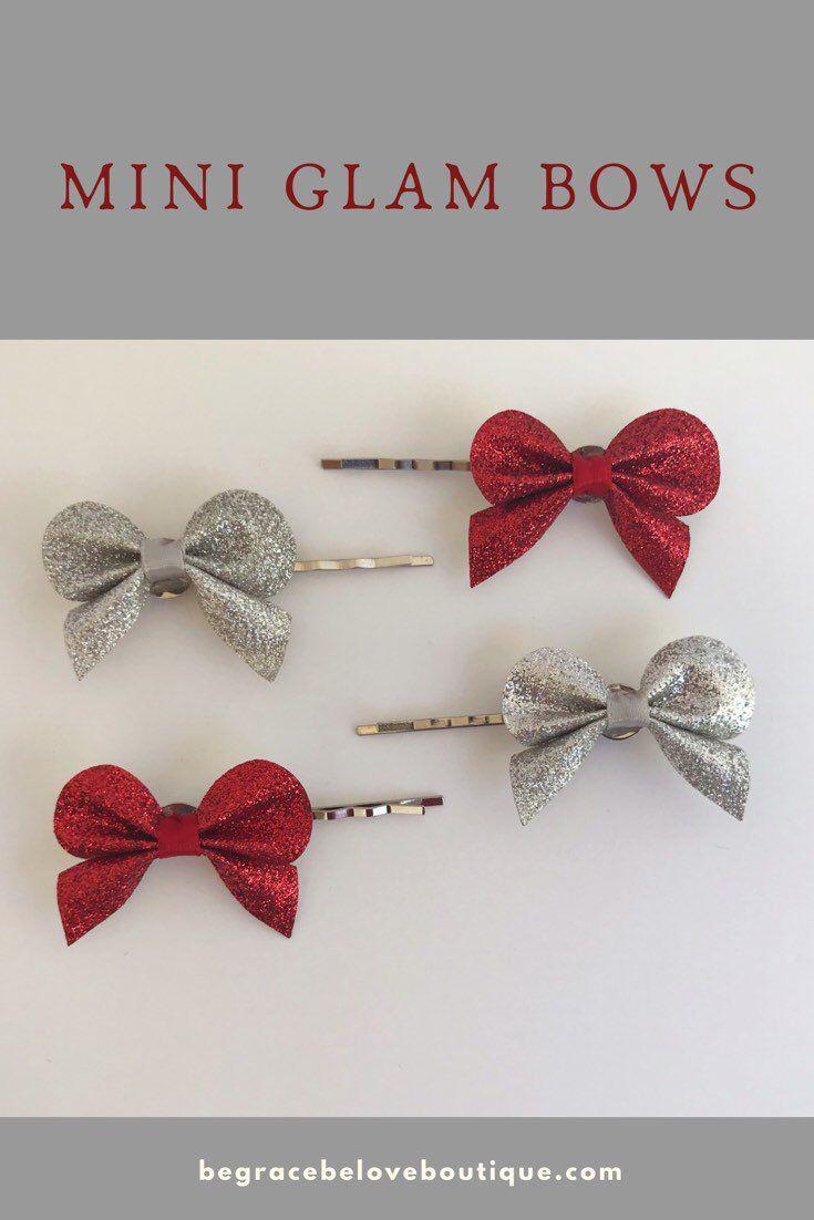 glitter bow hair pin, wedding hair jewelry, womens hair