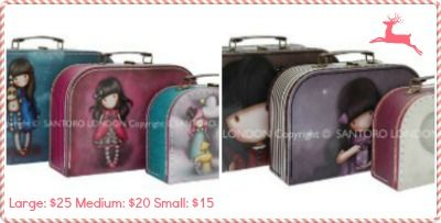 Our Gorjuss suitcases are now available in 3 x packs or individual!  Large $25 / Medium $20 / Small $15.  Find them at www.graceandlace.com.au