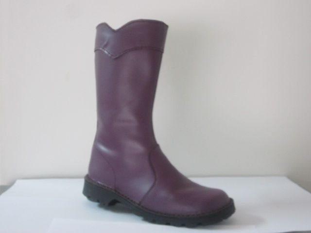 Purple Biker Boot for ladies