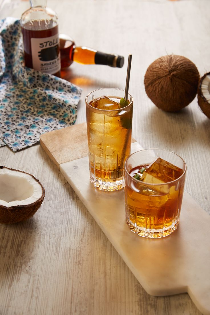 Toasted Coconut Old Fashioned |        40ml Stolen Smoked Rum 10ml   Plantation Pineapple Rum 12ml   Toasted Coconut syrup**  | Method - Build ingredients over ice and stir, garnish with lime rind             ** toasted coconut syrup can be made by adding lightly toasted desiccated coconut to a simple sugar syrup, allow to steep for 2 hours and strain through muslin cloth.