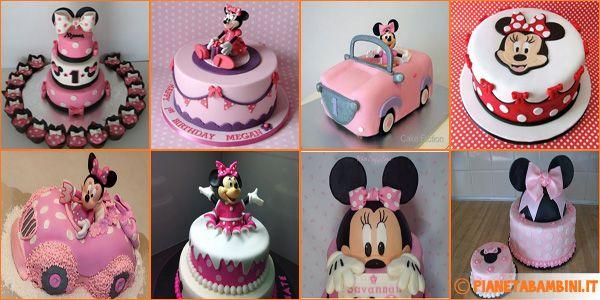70 torte di Minnie realizzate con decorazioni in pasta di zucchero
