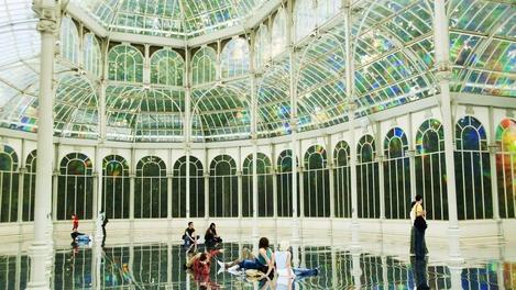 Palacio de Cristal en Parque del Buen Retiro, Madrid