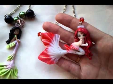 ♦ Tutorial: Polymer clay mermaid + all the mermaids I made so far! - YouTube