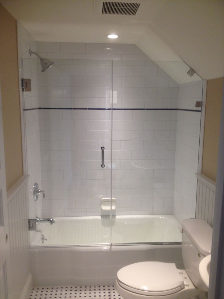 Custom Wall To Glass Hinged Shower Door With Side Panel And Clips By  Www.glassworksvt