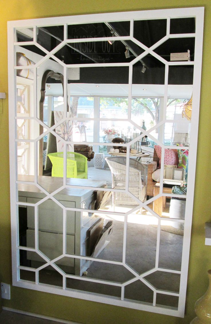 Custom Order - Web Mirror in Solid White Finish - 1800 x 1200mm - Inside Out Home Boutique - Please check stock availability