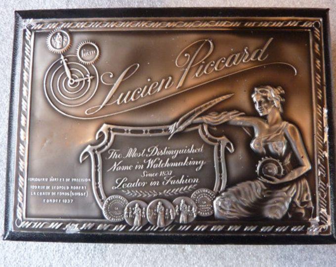 Vintage Lucien Piccard Wooden Watch Box