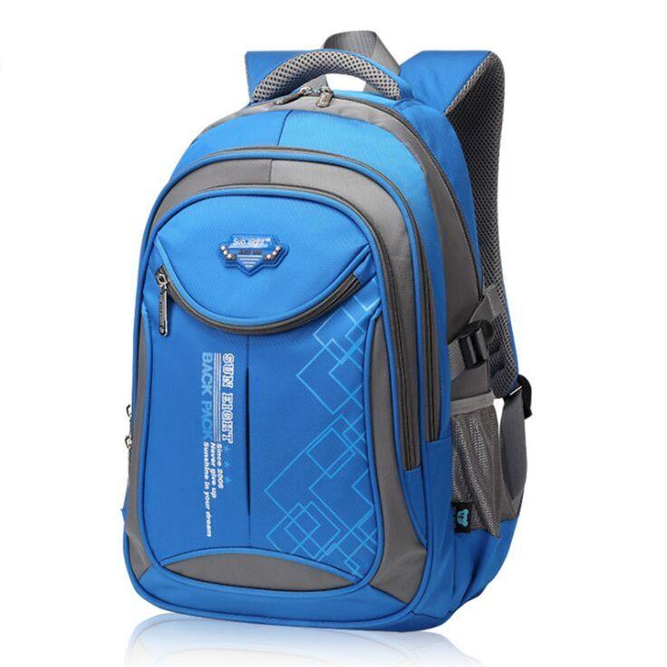 25c6d0d5611 2017 New Children Schoolbag Backpack Kids Bag 5 Colors Waterproof Nylon  Boys School Bags for Girls