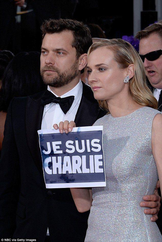 Globurile de Aur 2015. #JesuisCharlie pe covorul roşu: cum s-au arătat vedetele solidare cu victimele atacului terorist din #Paris