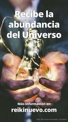 Recibe la abundancia del Universo. Otro de los conceptos que llevo conmigo en todo momento es la disponibilidad de abundancia que el Universo tiene para mi... Más información: http://www.reikinuevo.com/recibe-abundancia-universo/