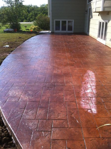 Stamped Stained Concrete Patio House Ideas Pinterest