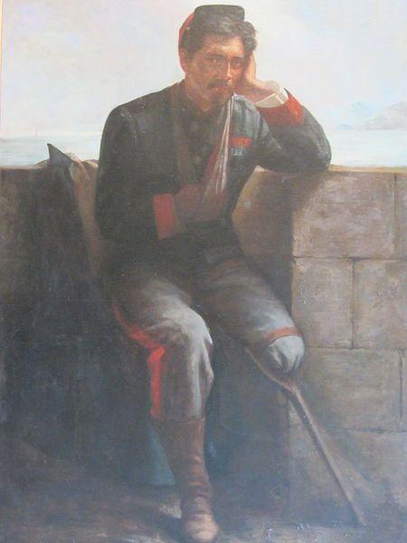 """""""El Capitán Dinamita"""" Óleo de Juan Francisco González. Pintado en honor a Arturo Villarroel Garezón,"""