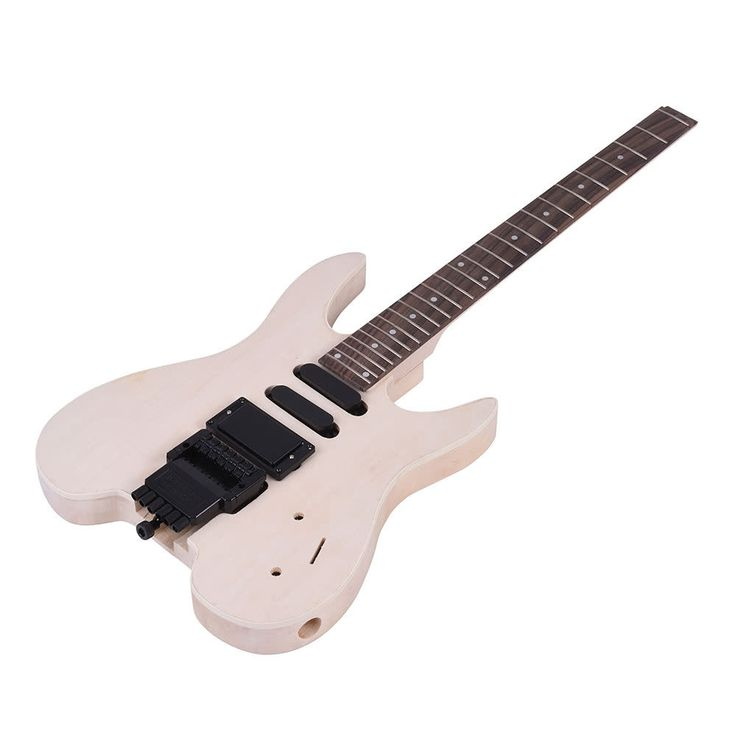 Do it yourself Electric Guitar Kit Basswood Body Rosewood Fingerboard Maple Neck #unbranded
