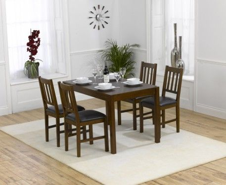 Shop The Oxford Dark Solid Oak Dining Table With Chairs At Furniture Superstore Quick Delivery APR Available