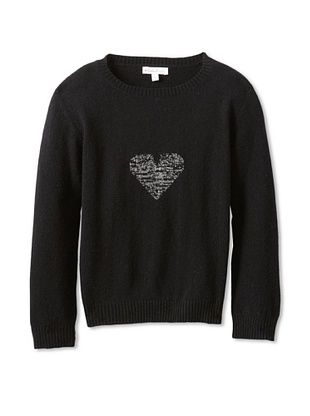 62% OFF Moon Et Miel Girl's Elodie Sweater (Black/Silver Heart)