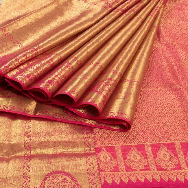 Ghanshyam Sarode Handwoven Kanchipuram Silk Saree with Big Zari Border 10003483 - profile - AVISHYA.COM