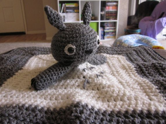 This is a pdf amigurumi pattern for a Totoro lovey. You could also make it in blue. I use it in my babies car seat to keep her legs warm and her hands busy. She loves to snuggle with it! Please note this is a download of crochet instructions and not a physical product.
