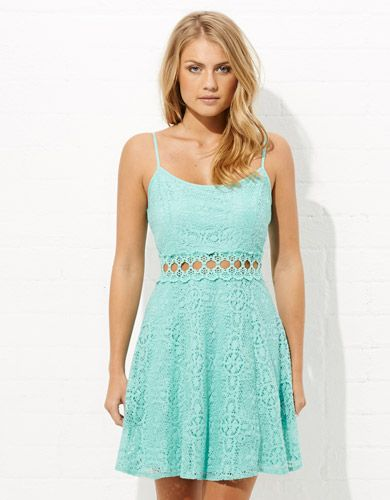 Image for Cut Out Waist Lace Dress from Jay Jays