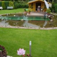 Projektreferenz Schwimmteich bei Hannover - Dieser Schwimmteich entstand im Eigenbau mit der Unterstüzung von Mielke's Schwimmteiche - Spezialist für Zier-, Natur- und Badeteiche