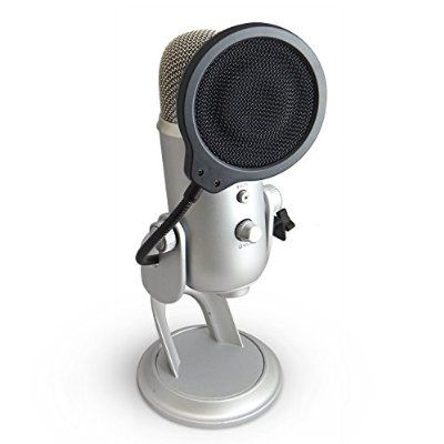 Auphonix 4-inch Pop Filter for Blue Yeti Microphone