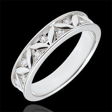 acheter en ligne Alliance Fraicheur - Rome Antique - or blanc - 7 Diamants  - 18 carats