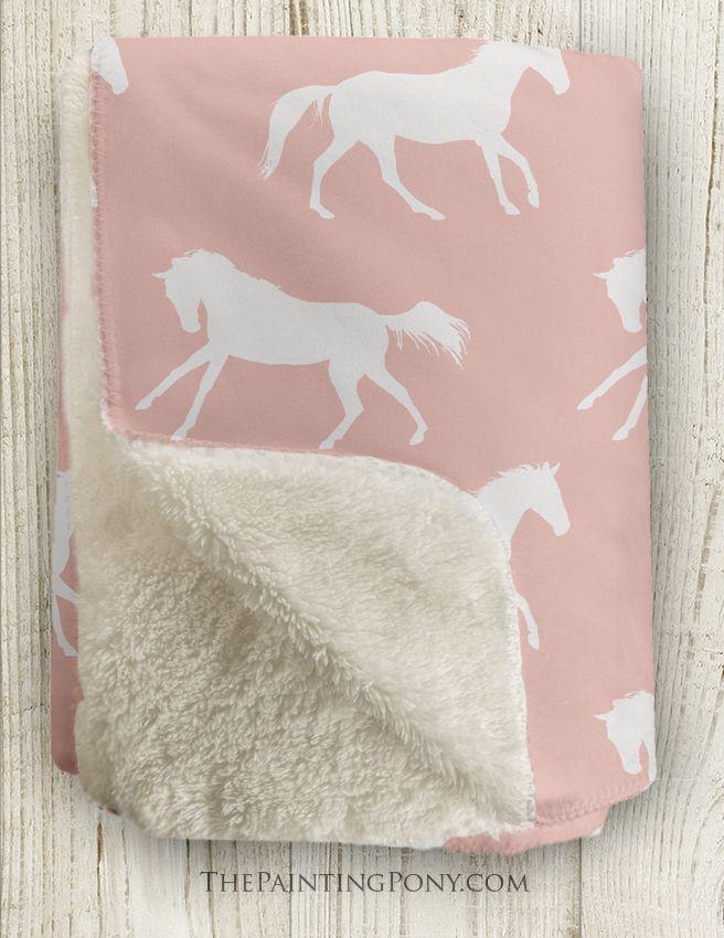 Galloping Horses Sherpa Fleece Throw Blanket Fleece Throw Blanket Horse Blankets Fleece Throw