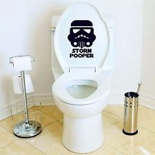 New Star Storm Pooper Toilet Sticker Waterproof Bathroom Funny Decal Wars Anime