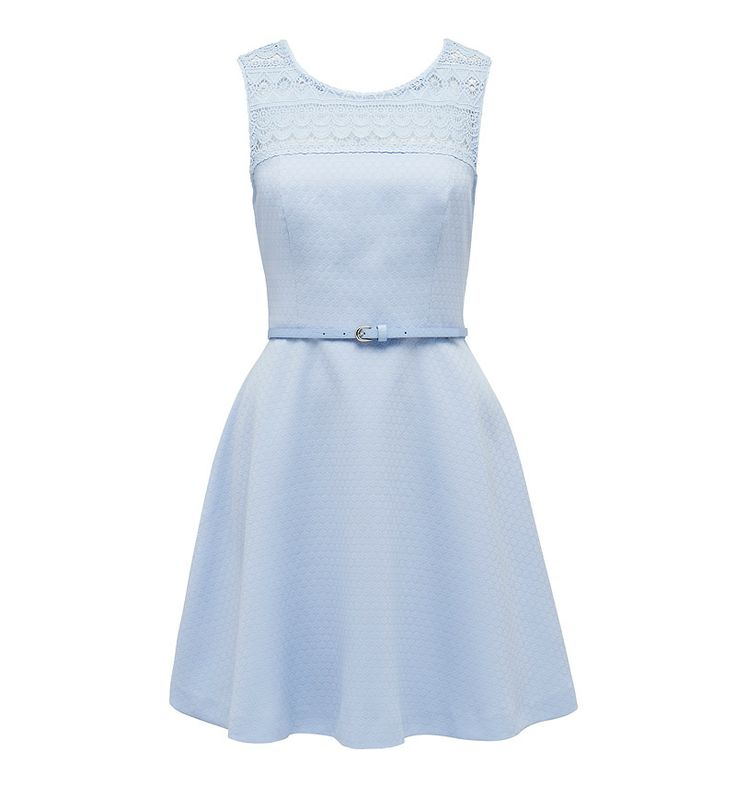 Lace fit and flare dress @Forever New #backtowork #blue