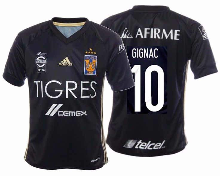 ADIDAS ANDRE PIERRE GIGNAC TIGRES UANL 5 STARS YOUTH THIRD JERSEY 2017.
