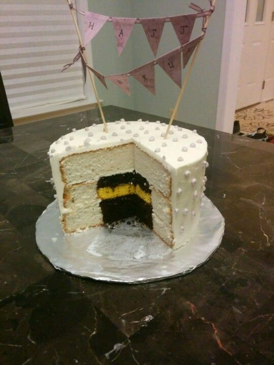 Hajj mubarak umrah mubarak surprise reveal kaba kaaba cake
