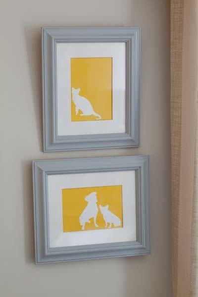 real simple pet silhouette.: Pets Silhouettes, Wall Art, Silhouettes Art, Wall Frames Ideas Pets, Pets Photos, Room Idease Hom, Crafts, Pets Portraits Photos, Real Simple