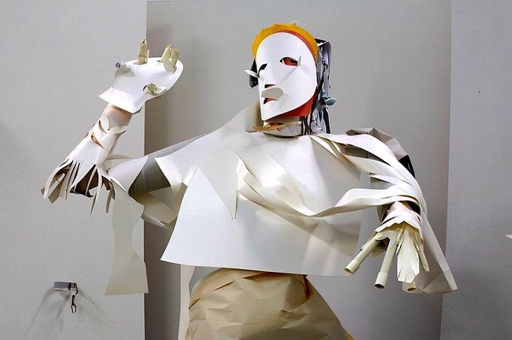 esculturas papel  karen sargsyan