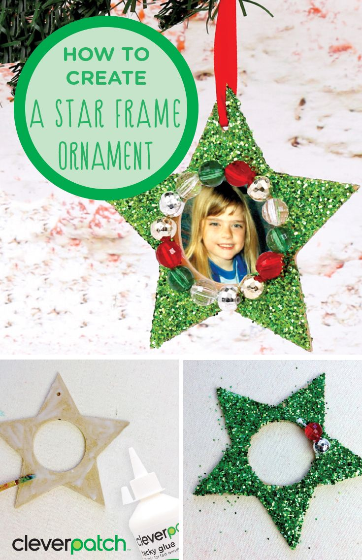 Star Frame Ornament Dazzle Your Loved Ones This Christmas With A Sparkly Festive Frame Kids Christmas Ornaments Christmas Diy Kids Christmas Ornament Crafts