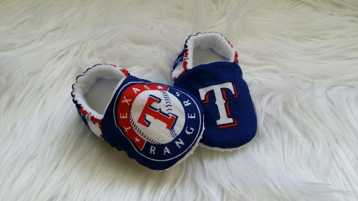 Texas Texans Baby Shoes, Baseball Crib Shoes, MLB Baby Shoes, Major League Baseball Baby Slippers, Baby Moccasins, Baby Gift, by MarleyOcean on Etsy https://www.etsy.com/listing/453636006/texas-texans-baby-shoes-baseball-crib