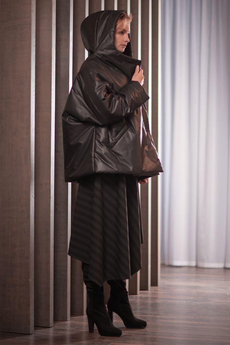 Купить Куртка Комби-объём, капюшон от Lesel (Лесель) российский дизайнер одежды