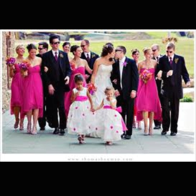 Pink And Black Wedding Ideas: Black And Pink Wedding Party