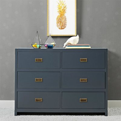Bria 6 Drawer Double Dresser