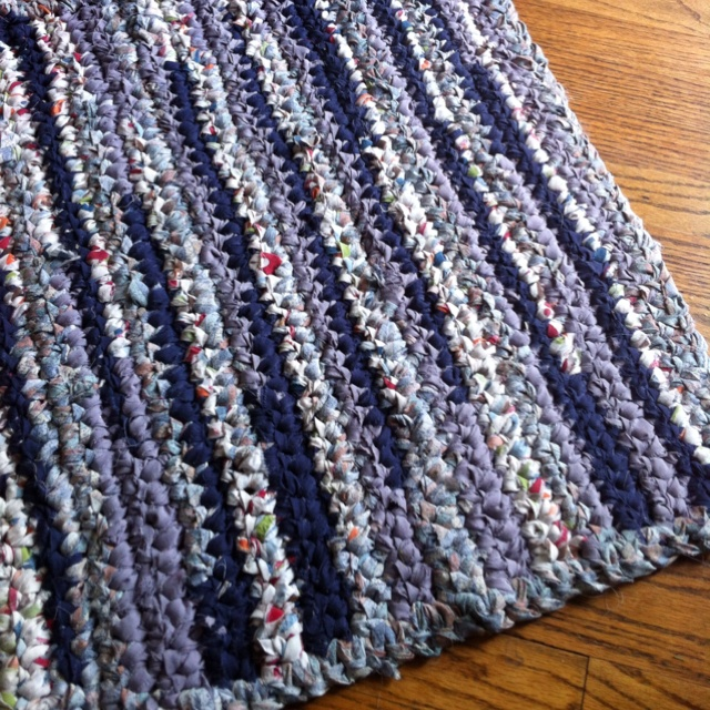 A Kitchen Rug Crotched With Old Strips Of Sheets. Could Be