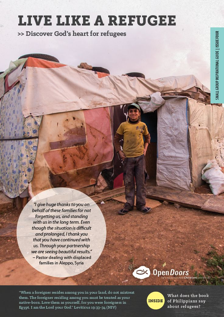Small Group Inspirational Guide - Live like a refugee, Issue 4