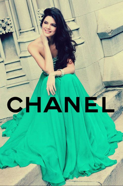 Kendall Jenner, Pantone says the color is emerald,  well, then, I think this dress would be perfect at a wedding.  It is a beautiful shade of green!!